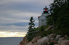 Lighthouse on Cliff Royalty Free Stock Photo