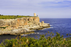 Lighthouse on cliff Royalty Free Stock Photography