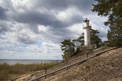 A lighthouse on the cliff. Stock Images