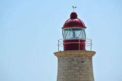 Lighthouse close-up on island of Malta Stock Photography