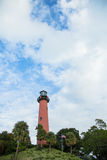 Lighthouse and cloudscape Royalty Free Stock Photography