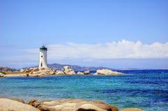 Lighthouse at coast Stock Image