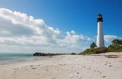 Lighthouse on the coast Stock Image