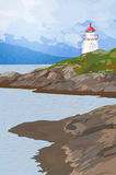 Lighthouse on coast Stock Photography