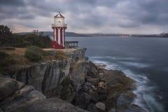 Lighthouse on coast Stock Photography