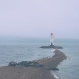Lighthouse on coast Stock Photos