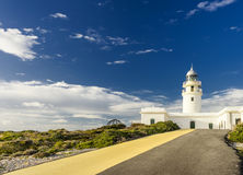 Lighthouse on the coast of Minorca Royalty Free Stock Image