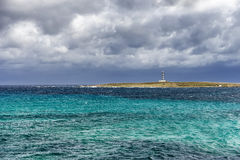 Lighthouse on the coast of Minorca Royalty Free Stock Photo