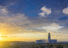 Lighthouse on the coast of Minorca Royalty Free Stock Photos