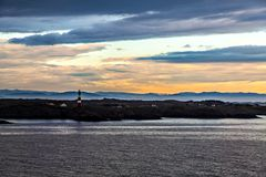 The lighthouse, coast and the North Sea, Norway Stock Images