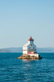 A lighthouse of the coast of Norway Royalty Free Stock Images