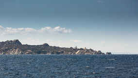 Lighthouse on coast of Sardinia near Santa Teresa Gallura Royalty Free Stock Photos