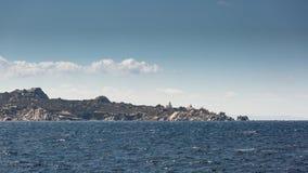 Lighthouse on coast of Sardinia near Santa Teresa Gallura Royalty Free Stock Photos