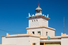 Lighthouse on the coast of Sidi Ifni Royalty Free Stock Photo