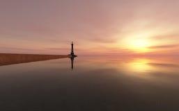 Lighthouse on the coast Royalty Free Stock Photos