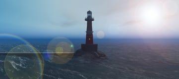 Lighthouse on the coast Royalty Free Stock Photo