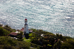 Lighthouse on coast of Waikiki in Hawaii Stock Images