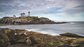 Lighthouse on coastline Royalty Free Stock Photo