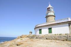 Lighthouse in the coastline of Corrubedo Royalty Free Stock Photos
