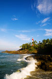 Lighthouse Coastline Kovalam Sunny Concept Royalty Free Stock Photography