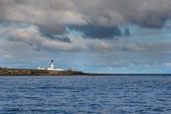 Lighthouse complex on Stroma Island, Orkneys, Scotland.
