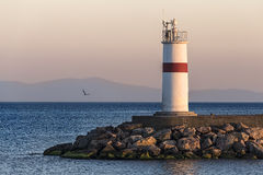 Lighthouse with control unit Royalty Free Stock Image