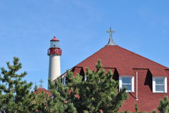 Lighthouse and Convent Royalty Free Stock Images