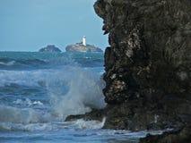 Lighthouse, Cornwall, England Stock Photo