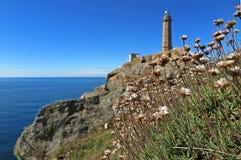 Lighthouse in Corrubedo Royalty Free Stock Photo