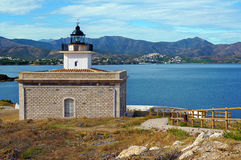 Lighthouse in Costa Brava Royalty Free Stock Images