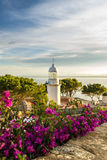 Lighthouse in Costa Brava Spain. Europe royalty free stock image
