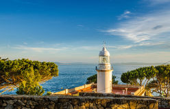 Lighthouse in Costa Brava Spain Royalty Free Stock Photography
