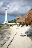 Lighthouse on Cozumel. Lighthouse of the island of Cozumel Royalty Free Stock Images