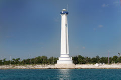 Lighthouse in Cozumel Mexico Royalty Free Stock Photography