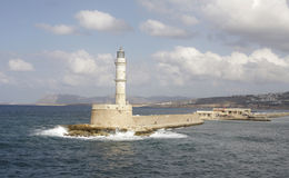 Lighthouse in crete Royalty Free Stock Photo