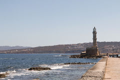 Lighthouse on Crete Royalty Free Stock Photos