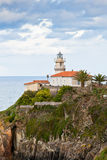 Lighthouse of Cudillero, Asturias, Northern Spain Royalty Free Stock Images
