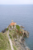 Lighthouse at Cudillero - Vertical. Cudillero Lighthouse on the Asturian coast Stock Photography