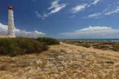 Lighthouse on  Culatra Island in Ria Formosa, Portugal Stock Photos