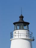 Lighthouse Cupola, Cove Point Light. Lighthouse cupola, fresnel lens and lightning rod at Cove Point Light, near Lusby, Maryland USA stock images