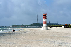 Lighthouse of the Düne, Helgoland Royalty Free Stock Photography