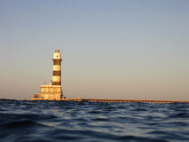 Lighthouse at daedalus reef Royalty Free Stock Photos
