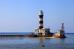 Lighthouse of the Daedalus reef Royalty Free Stock Photo
