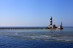 Lighthouse of the Daedalus reef Stock Photography
