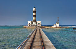 Lighthouse at Daedalus Reef Royalty Free Stock Images