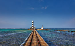lighthouse on Daedalus Reef Royalty Free Stock Image