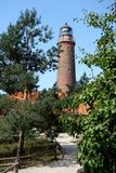 Lighthouse Darsser Ort Baltic Sea royalty free stock photos