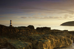 Lighthouse in dawn light Stock Photography