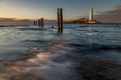 Lighthouse. By Dawn in North Yorkshire Royalty Free Stock Photography