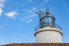 Lighthouse during day time with clear sky royalty free stock photography
